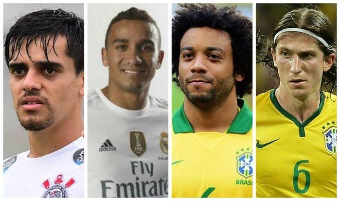 Laterais: Fagner, Danilo, Marcelo e Filipe Luis