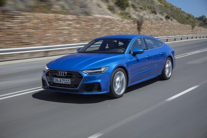 Audi A7 tem sistema híbrido leve para auxiliar na partida e no start-stop (Crédito: Divulgação)