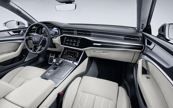 Cabine do Audi A7 tem visual futurista, mas não abusa da extravagância  (Crédito: Divulgação)