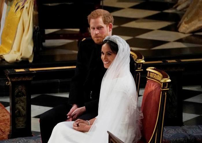 Harry e Meghan Markle se casam (Crédito: Owen Humphreys/pool via AP)