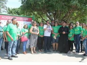 Prefeito Marcelino entrega Academia ao Ar Livre à população