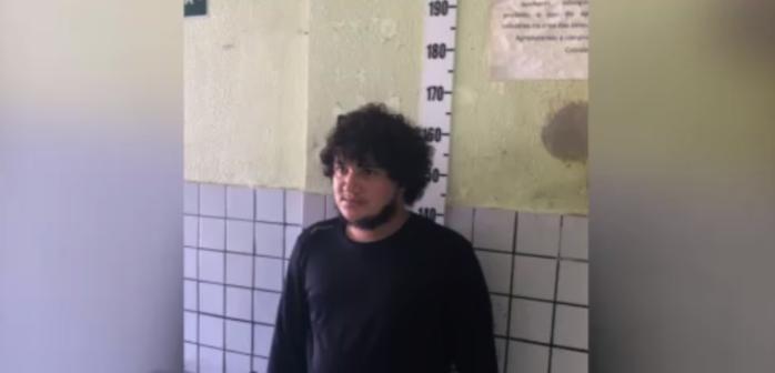 Francisco Leandro dos Santos, preso acusado de cometer o crime  (Crédito: Rede Meio Norte)