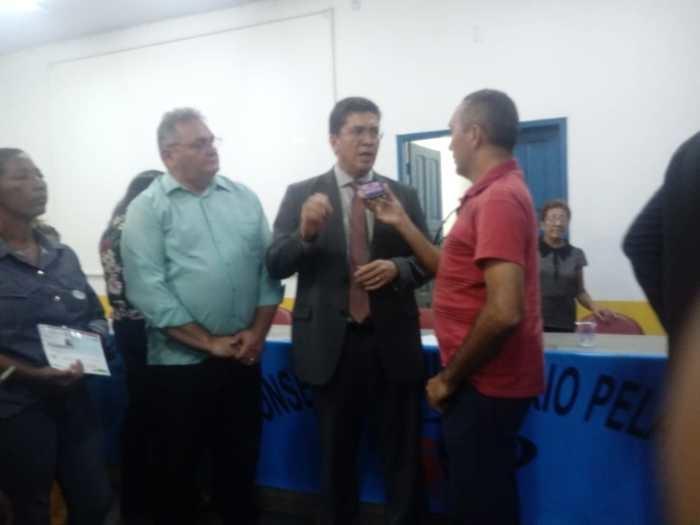 Entrevista Exclusiva com a imprensa de Parnarama (Crédito: Aristeu Carvalho)