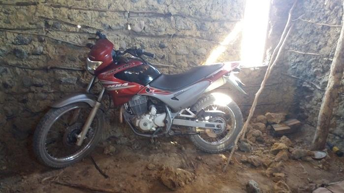 Localização da moto (Crédito: Ronaldo Figueiredo )