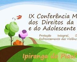 Convite da IX Conferência dos Direitos da Criança e do Adolescente