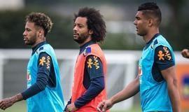 Seleção Brasileira treina com 22 dos 23 convocados em Londres