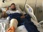Clayson publica foto após realizar cirurgia no joelho