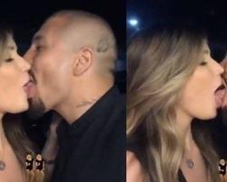 Aline e Fernando dão beijão de tirar o fôlego após reconciliação