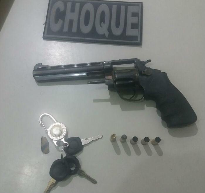 Arma apreendida  (Crédito: Divulgação/PM-PI)