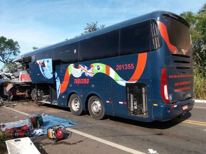 Ônibus  saiu de Picos, no Piauí (Crédito: Divulgação-PRF)