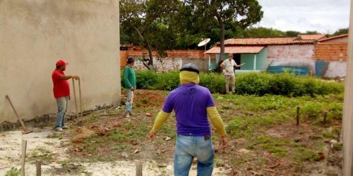 Prefeito Herbert Silva visita Obra da Creche Pró-Infância.