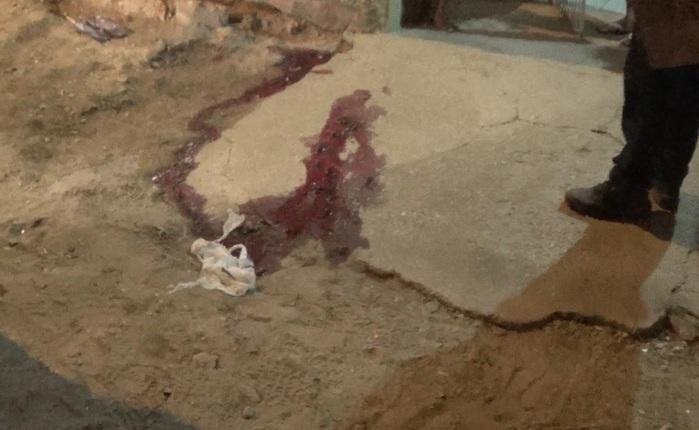 Marcas de sangue ficaram no local (Crédito: Reprodução/Tv Meio Norte)