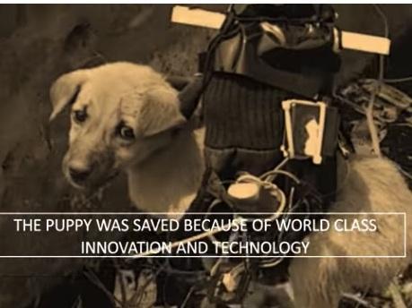 Drone modificado faz resgate de cachorrinho na índia; vídeo