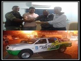 Prefeitura de DEL entrega viatura para PM