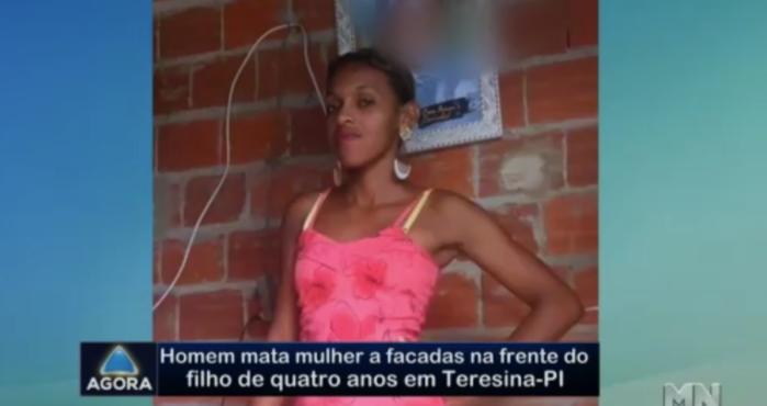 Joana Darc, assassinada a golpes de facão pelo marido em Teresina  (Crédito: Rede Meio Norte)