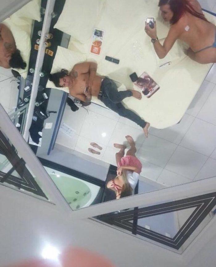 Douglas Sampaio tem noitada com travestis e fotos intimas são divulgadas nas redes sociais (Crédito: Reprodução/Twitter)