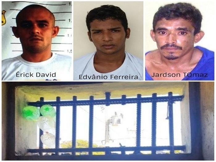 Presos fugitivos (Crédito: Reprodução/CostaNorte)