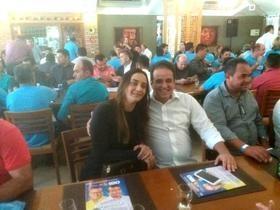 Diego Teixeira Ana Tércia em ato de apoio a Margarete Coelho