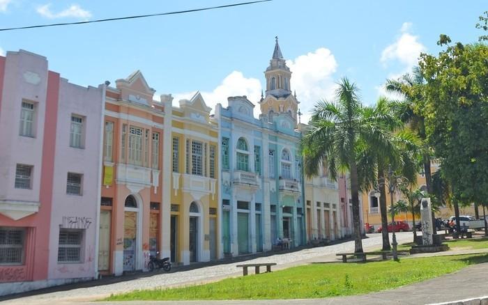 Sede do Iphan (em amarelo) no Centro de João Pessoa  (Crédito:  Krystine Carneiro/G1/Arquivo)