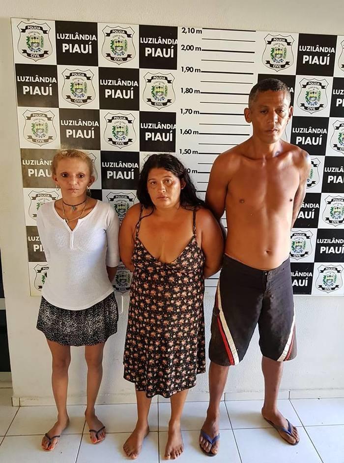 Presos por tráfico em Luzilandia  (Crédito: Polícia Civil )