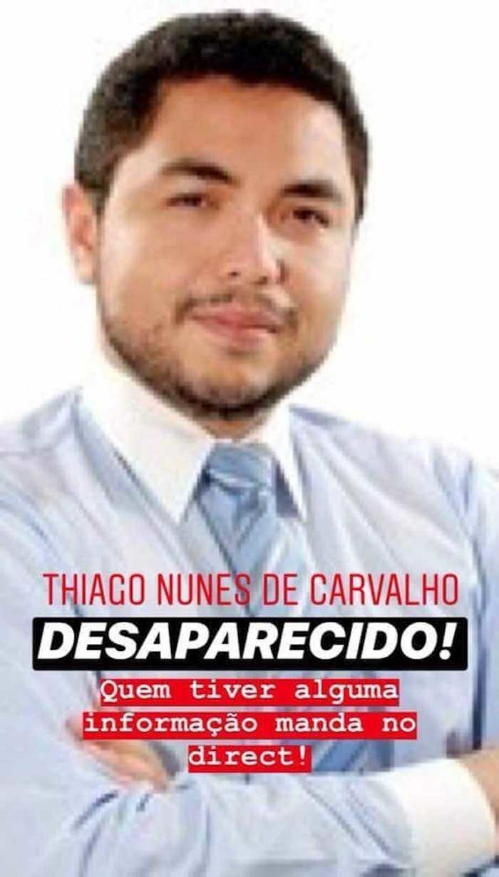 Advogado está desaparecido desde segunda-feira (Crédito: Reproduçãp/TVMN)