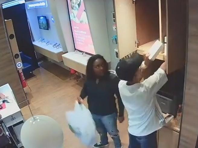 Imagem mostra ação de maior assaltante de lojas de celulares do Rio