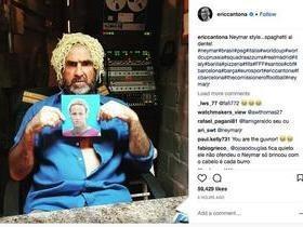 Ídolo francês imita Neymar em foto com cabelo de macarrão na web