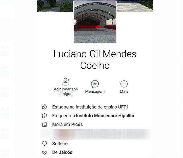 Luciano Gil Mendes Coelho, natural de Jaicós-Piauí (Crédito: Facebook/Reprodução )
