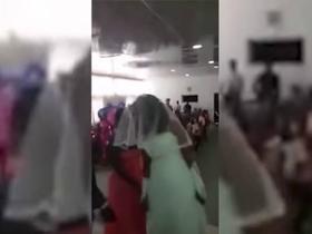 Namorada rejeitada aparece vestida de noiva em casamento do ex