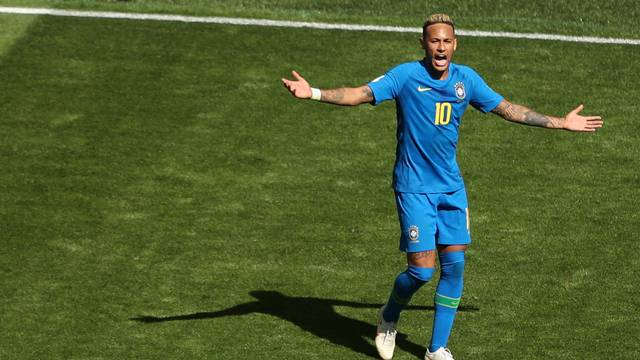 Neymar Brasil x Costa Rica São Petersburgo (Crédito: Reuters)