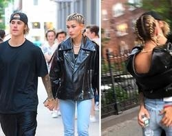 Hailey Baldwin ganha mão boba de Justin Bieber durante passeio