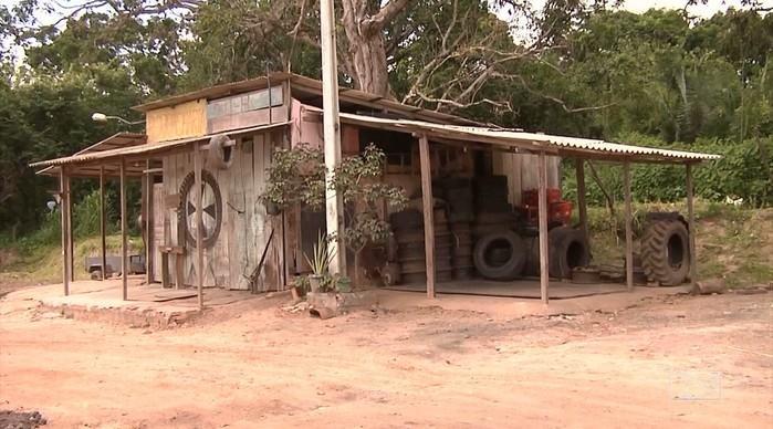 Local do atropelamento  (Crédito: TV Mirante )