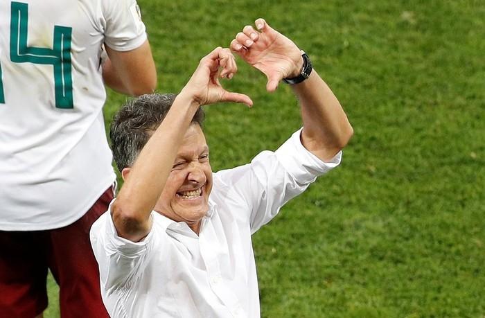 Osorio em comemoração após vitória sobre a Coreia (Crédito: Reuters)