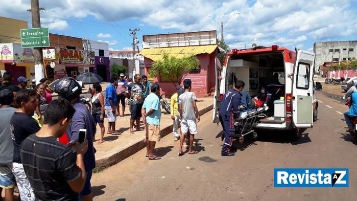 Acidente envolvendo três motos deixa feridos em Esperantina (Crédito: Reprodução/Revista AZ)