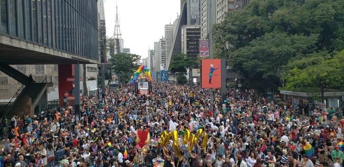 Paulista lota para Parada LGBT  (Crédito: Mitchel Diniz/GloboNews)