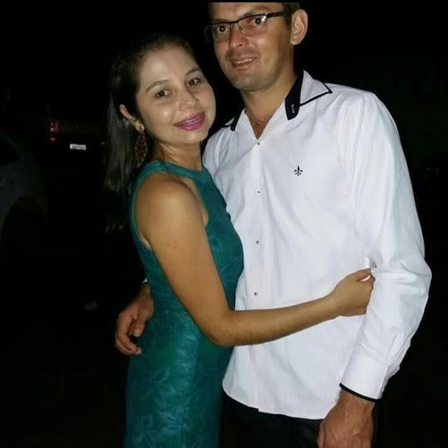 Selene Veras Roque ao lado do marido suspeito do crime  (Crédito: Arquivo Pessoal )