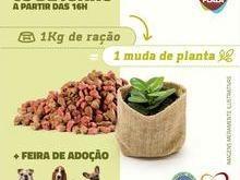 Trque 1kg de ração por uma muda de planta no Picos Plaza Shopping
