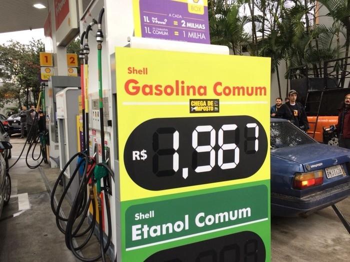 Posto vende gasolina com preço pela metade  (Crédito: Marina Pinhoni/G1)
