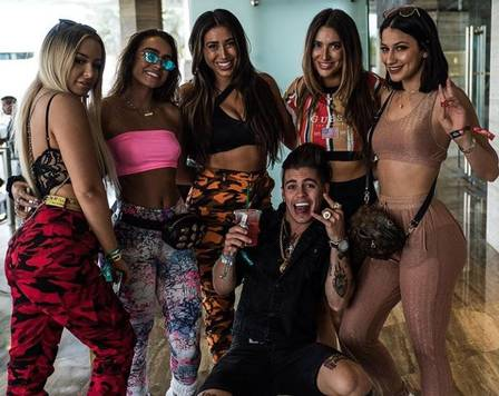 Biel e amigas em Miami (Crédito: reprodução/instagram)