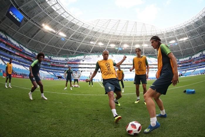 Com capacidade para quase 42 mil torcedores, estádio inaugurado para a Copa do Mundo é elogiado por jogadores e comissão técnica (Crédito: Lucas Figueiredo/CBF)