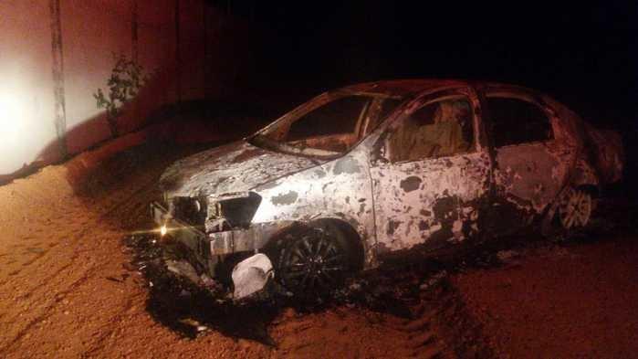 Veículo de proprietário de academia é encontrado incendiado (Crédito: Rede Meio Norte)