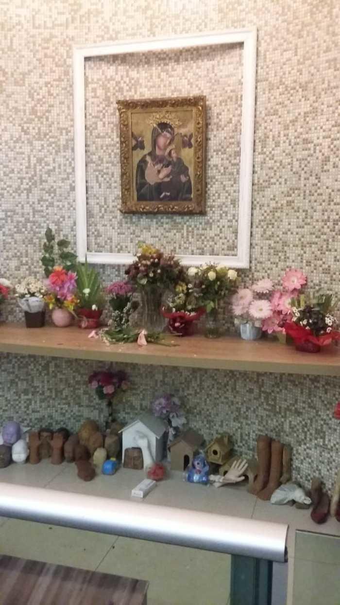 Imagem de Nossa Senhora do Perpétuo Socorro ficou danificada (Crédito: Reprodução/Portal Meio Norte)