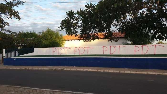 Prédios públicos de Palmeirais sofrem ato de vandalismo (Crédito: Reprodução)