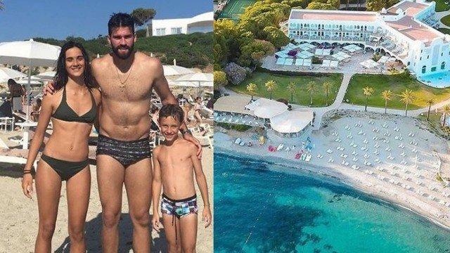 Alisson Becker é tietado durante as férias em resort italiano com diárias de até R$ 6 mil  (Crédito:  reprodução/instagram)