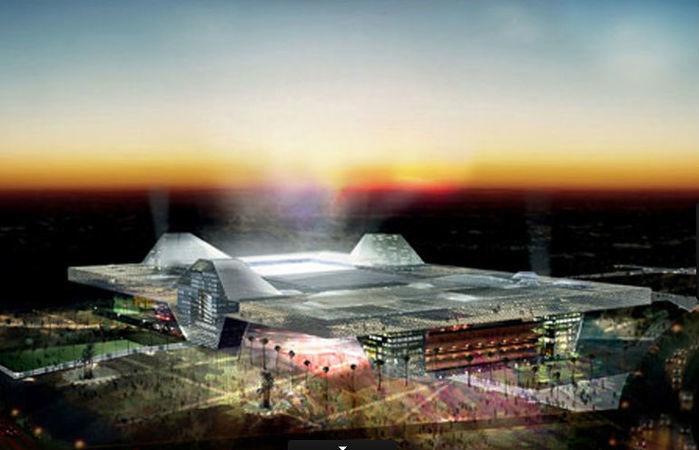 Ispirado em tendas árabes, o Sports City Stadium vai poder receber 47.560 torcedores em 2022 (Crédito: Divulgação)