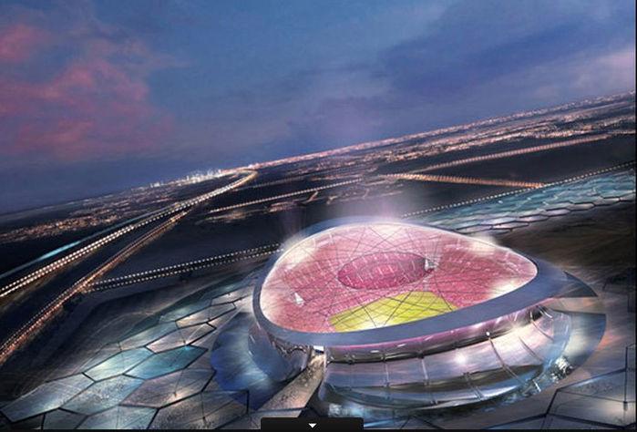 O Lusail Iconic, que terá capacidade para 86.250 torcedores, vai receber a abertura e a decisão da Copa (Crédito: Divulgação)