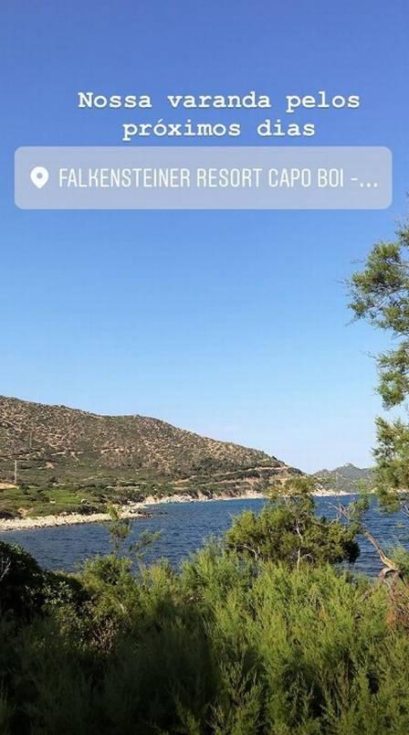 Alisson Becker passa férias em resort italiano com diárias de até R$ 6 mil  (Crédito:  reprodução/instagram)