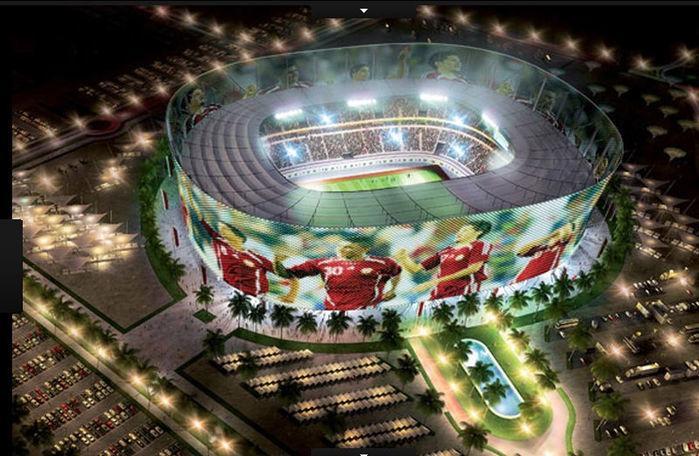 O já existente estádio de Rayyan poderá ter sua capacidade redobrada e vai receber 44.740 torcedores (Crédito: Divulgação)