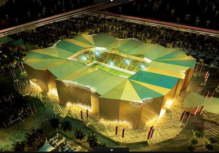 O Umm Slal Stadium poderá receber 45.120 torcedores na competição. Após o Mundial, porém, sua capacidade iria para 25.500 lugares (Crédito: Divulgação)