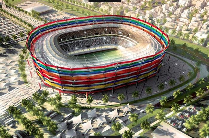 O Al-Gharafa Stadium poderá ter sua capacidade ampliada para 44.740 para o Mundial (Crédito: Divulgação)